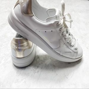 Golden Goose Purestar Gold Back Tab Sneakers 38